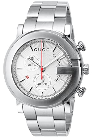 76771b0d2c4a [グッチ]GUCCI 腕時計 101M シルバー ギョシェ SS クロノグラフ YA101339 メンズ 【並行輸入