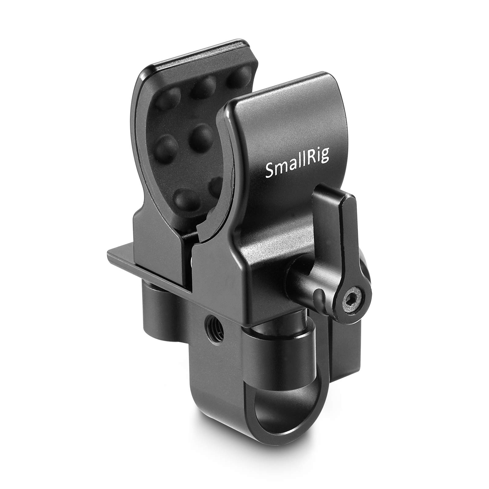 SMALLRIG Microphone Mount, Shotgun Microphones Clip (for 19-25mm Diameter) with Elastic Silica Gel, Shock and Noise Absorption 1993 by SMALLRIG