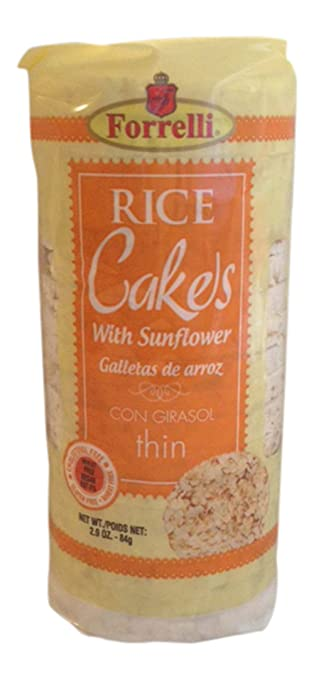 Forrelli Rice Cakes with Sunflower 2.9 Oz (4)