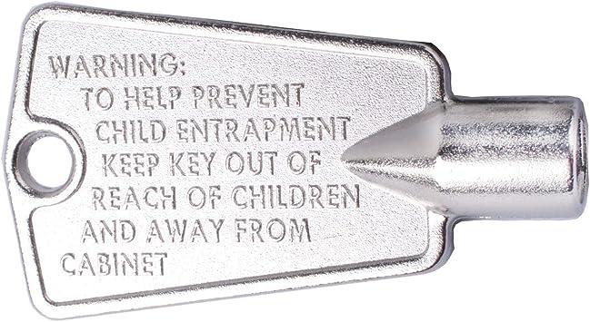 Metal 216702900 Freezer Door Key for Frigidaire Kenmore AP4071414 PS2061565 AP2113733 AP4301346 PS1991481 06599905 08037402 12849