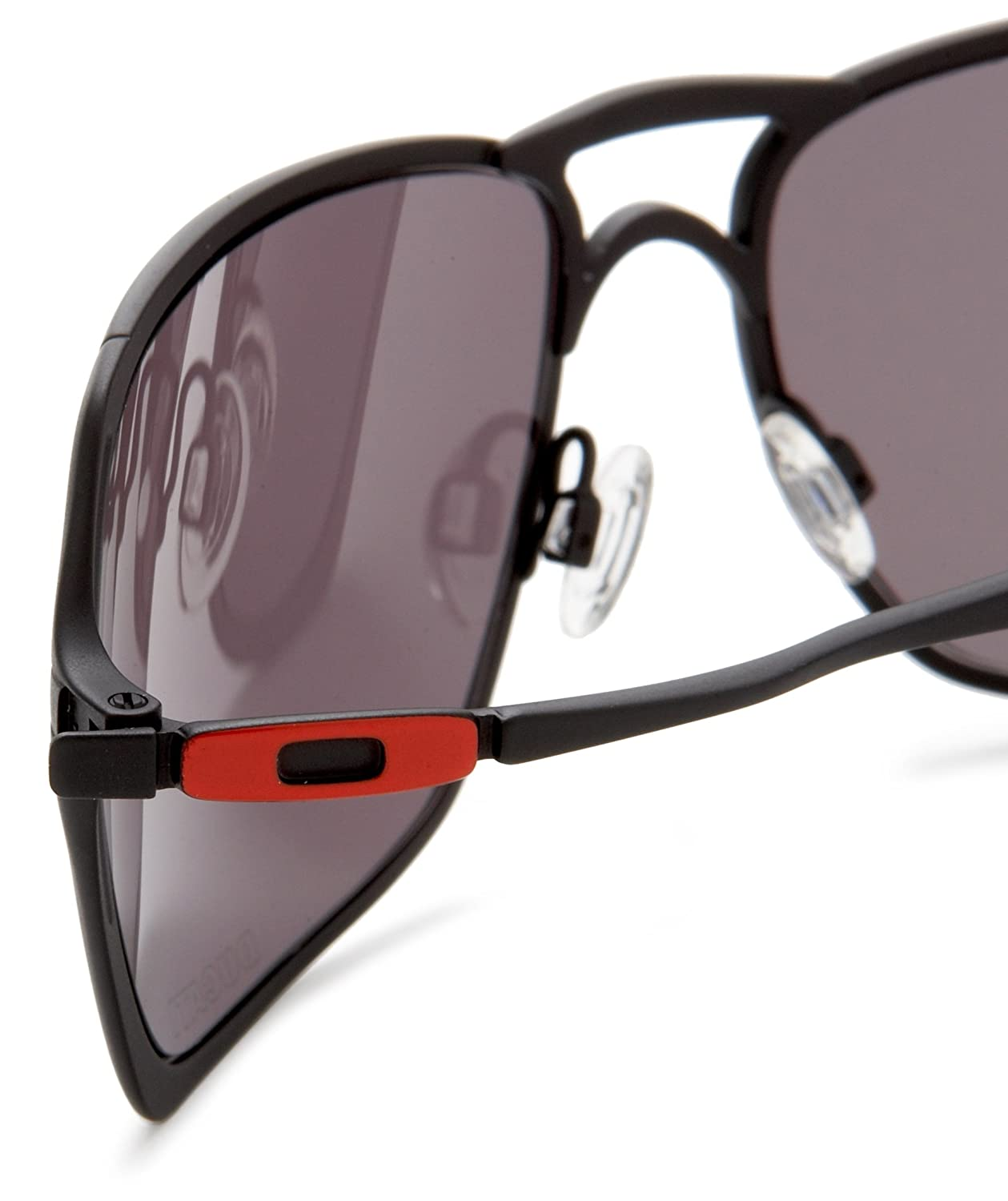 08c0112d2b Oakley Inmate Oo4029 Matt Black Frame Warm Grey Lens Metal Sunglasses   Amazon.co.uk  Sports   Outdoors