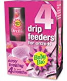 Baby Bio Orchid Drip Feeders, Ready to Use Plant Feed, 4 x 40 ml