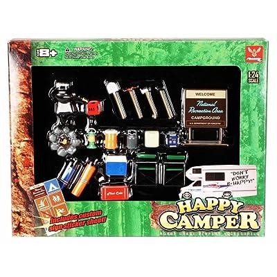 Happy Camper - Phoenix Garage Diorama Accessory Set 18430 - 1/24 scale diecast car diorama accessory: Toys & Games