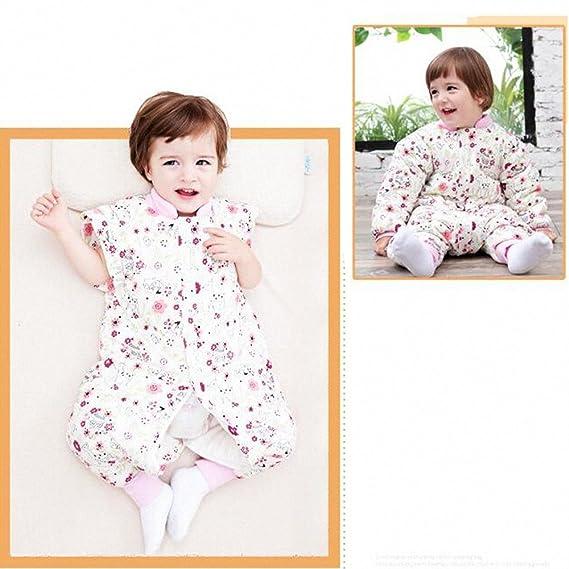 Happy Dream saco para bebé invierno manga algodón larga - Garcon - niña pijama niños Confort combinación de patas. Hibou- Rosa Talla:M:75-85CM(0-12 mois): ...