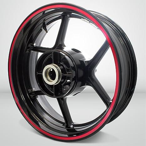 Thick Outer Rim Liner Stripe for Kawasaki Ninja 250 Reflective Red