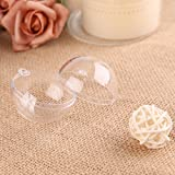 20X 80mm Diameter Zogin Clear Transparent Ball Christmas Tree Ornaments DIY Fillable Ball Baubles for Kids