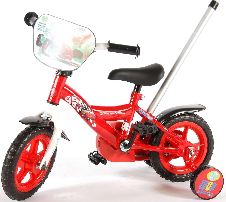 E&L Cycles Bicicleta Niño Disney Cars 10 Pulgadas con cajones Barra: Amazon.es: Deportes y aire libre