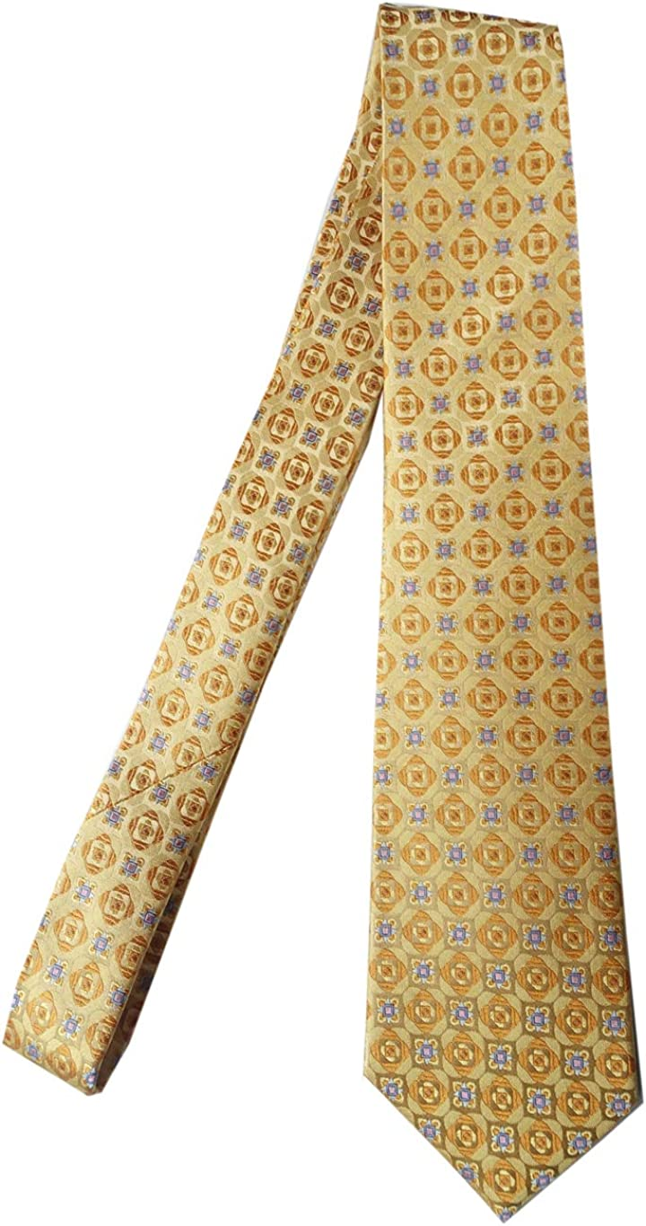New Classic Floral Blue Light Yellow JACQUARD WOVEN 100/% Silk Men/'s Tie Necktie