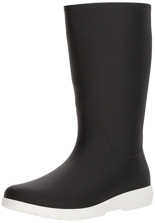 Kamik Women's Jessie Rain Boot B074P4GCVL 9 B(M) US|Black and White