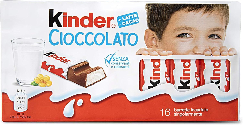 Kinder Tableta Chocolate con Leche Caja - 16 x 12.5 g: Amazon.es ...