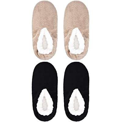 Amazon.com | 2 Pairs Man Touch Me Ballerina Slippers Comfort No-Slip Slipper Socks | Slippers