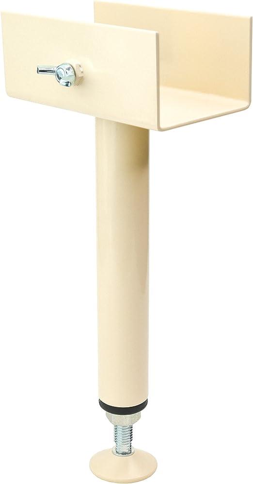 capacit/é de charge 400 kg Pieds de lit Cylinde Pieds de support Accessoires de cadre de lit r/églables En forme de T 4 pi/èces bla Pieds de meubles en m/étal base filet/ée r/églable de 22 mm