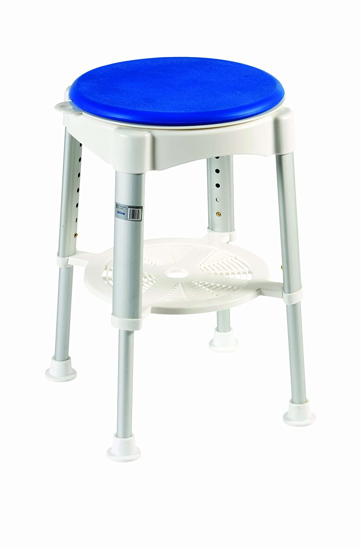 Drive Medical RTL12061EU - Sgabello da bagno, imbottito e girevole, confezione da 4 pezzi