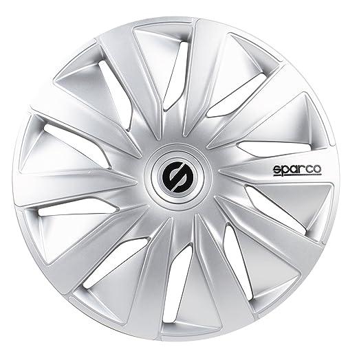 Amazon.com: Sparco SPC1591BKGR Wheel Covers Lazio 15-inch Black/Grey: Automotive