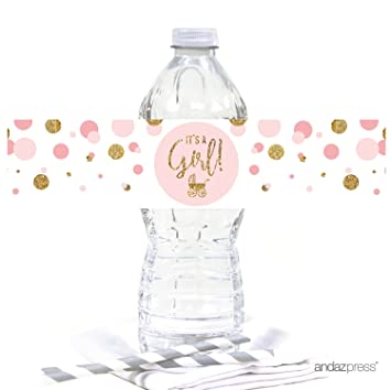 Amazon Andaz Press Blush Pink Gold Glitter Girl Baby Shower
