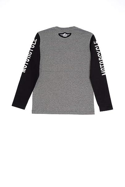 b5330dbdbfeb JECKERSON T Shirt Manica Lunga Bambino Jackerson Grigio Medio Nero   Amazon.it  Abbigliamento