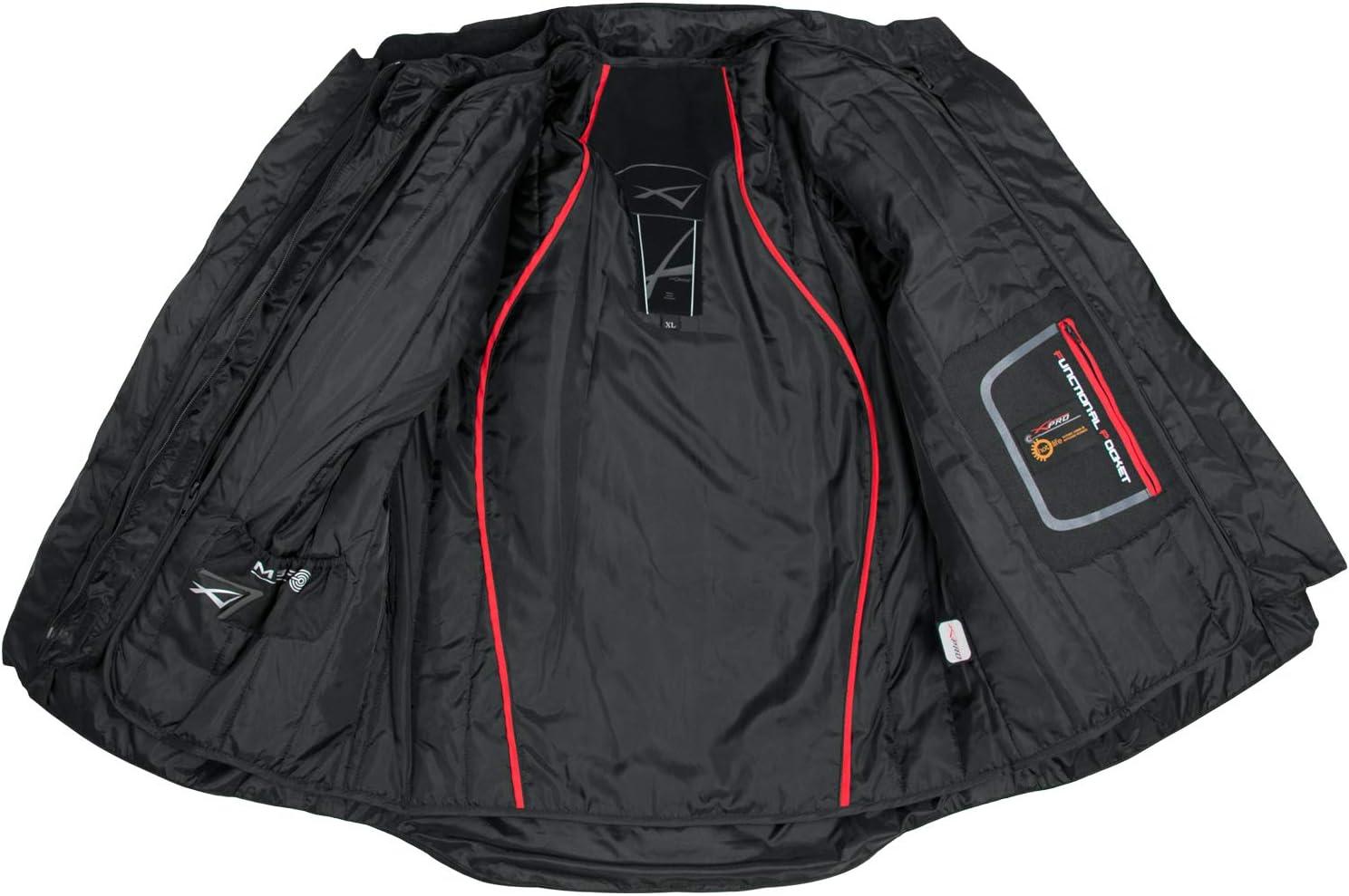 Giacca Offroad Enduro Moto Turismo Impermeabile Tessuto Protezioni Nero L