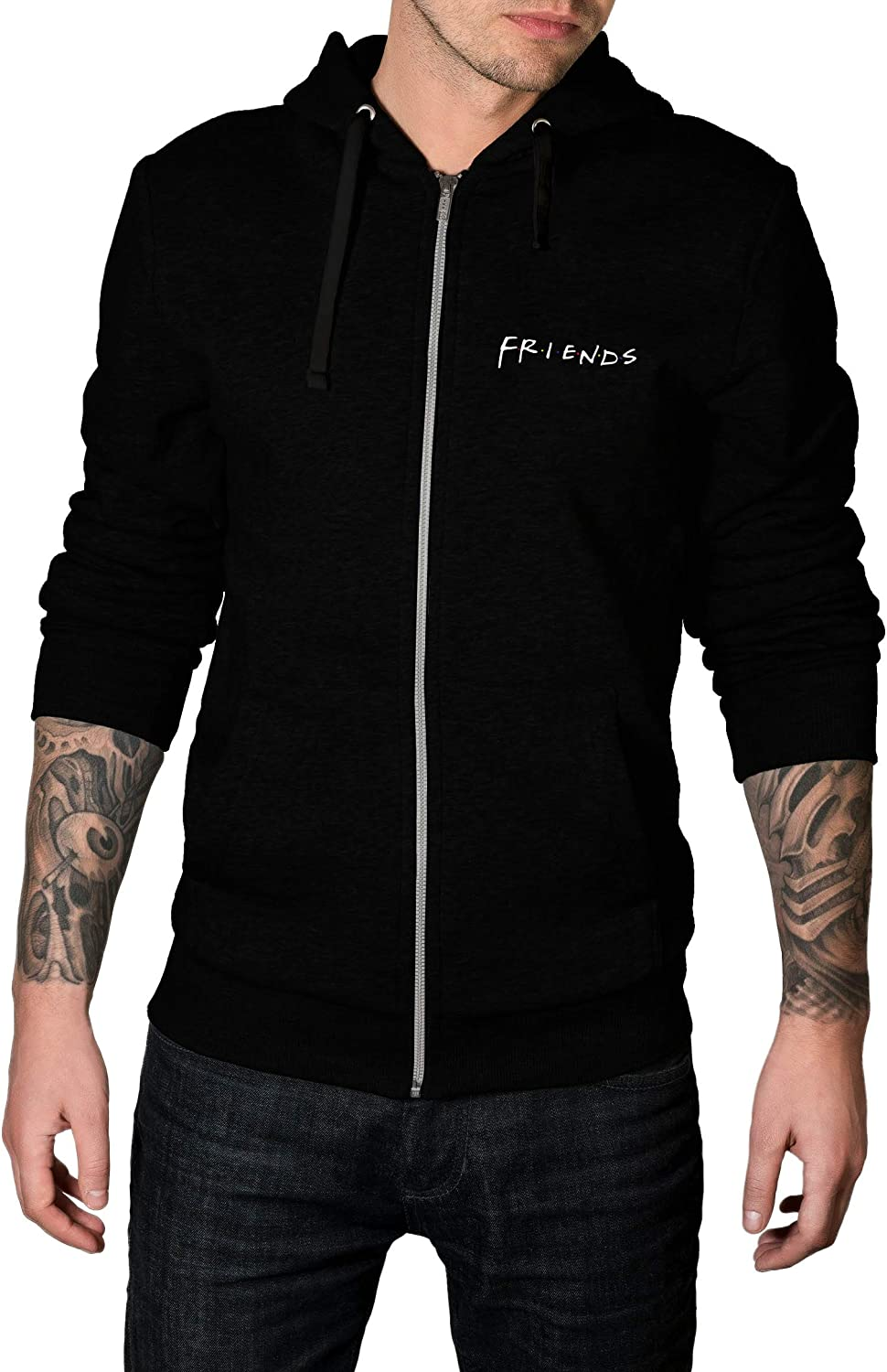 Decrum Mens Superhero Zip Up Hoodie - Fleece Zipper Hooded Sweatshirt