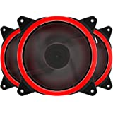 upHere Red Computer Case Fan 120mm LED Silent Fan for Computer Cases, CPU Coolers, and Radiators, Premium Edition 3 Pin 3 Pac