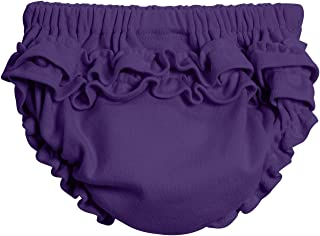 product image for City Threads Baby Girls' 100% Soft Cotton Ruffle Diaper Cover Bloomers Made USA