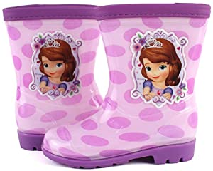 Disney Sofia The First Bubble Purple Rainboot 9.5 M US Toddler