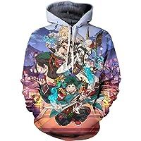 BDSAZ Adult Teen Novelty My Hero Academia Anime Anime Pullover Hoodie Sweatshirts for Boys and Girls