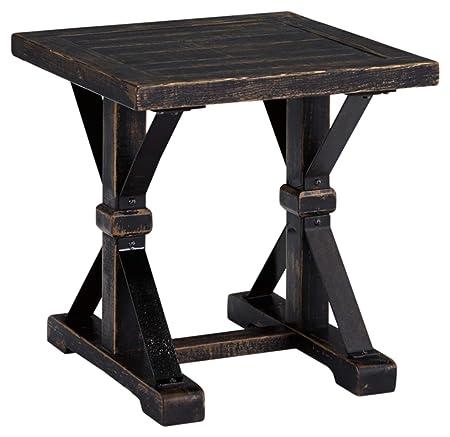 Ashley Furniture Signature Design – Beckendorf Casual Square End Table – Black
