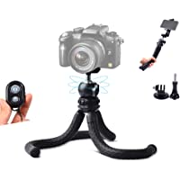 Ruittos Phone Tripod, Cell Phone Flexible Tripod Octopus with Bluetooth Camera Remote, Mobile Tripod Mount Adapter…
