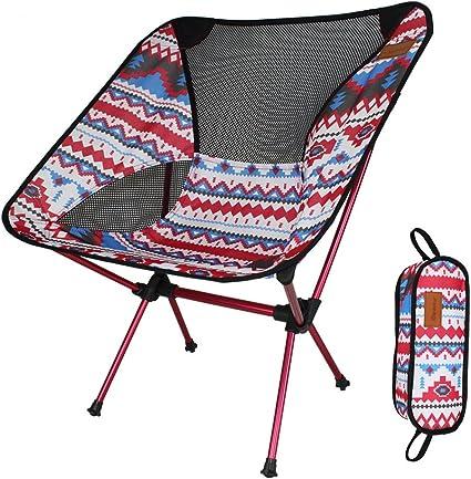 2 x Lightweight Folding Camping Chair Portable Outdoor Fishing Seat Ultra-Light