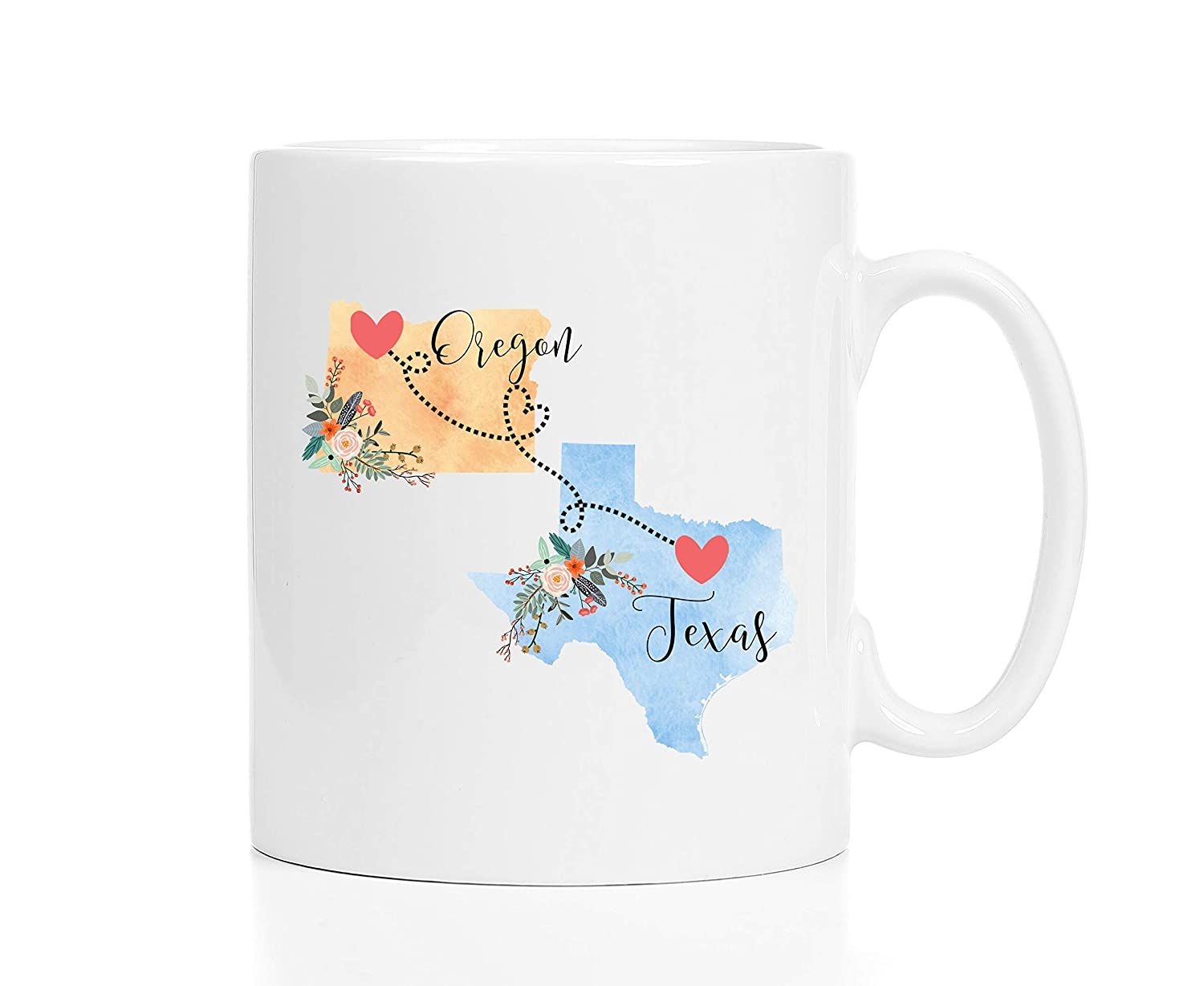 Oregon Texas Mug Coffee Cup Gift Best Friend Mom Girlfriend Aunt Grandma Birthday Mothers Day Going Away Present Moving New Job Gifts