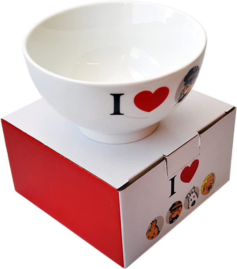 Bol en porcelaine de Tintin I Love Le Capitaine Haddock 47950