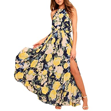 451442913ca DAY8 Robe Femme Chic Soiree Robe Longue Femme Été 2018 Grande Taille Fleur  Boheme Bustier Robe
