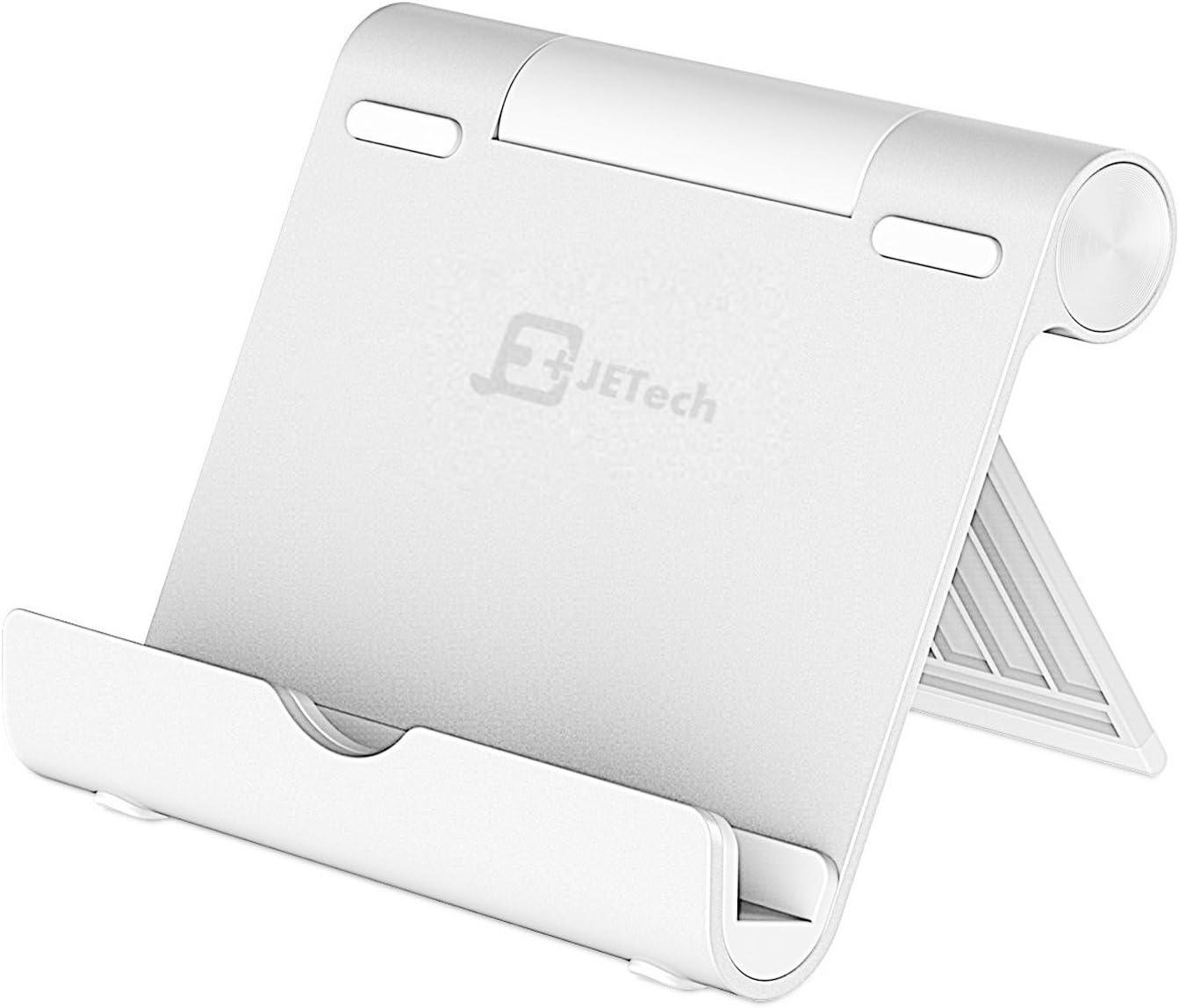 JETech 2061- Soporte Tablet, Multi-Angulo, Portátil Durable Aluminio, Soporte de Móvil y Tableta, Plata