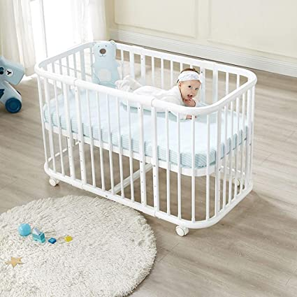Amazoncom Duwen Cot Bed Solid Wood Multifunction European Baby Cot