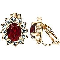 Yoursfs Flower Clip Earrings for Women Trendy Non PIerced Clip-on Earrings