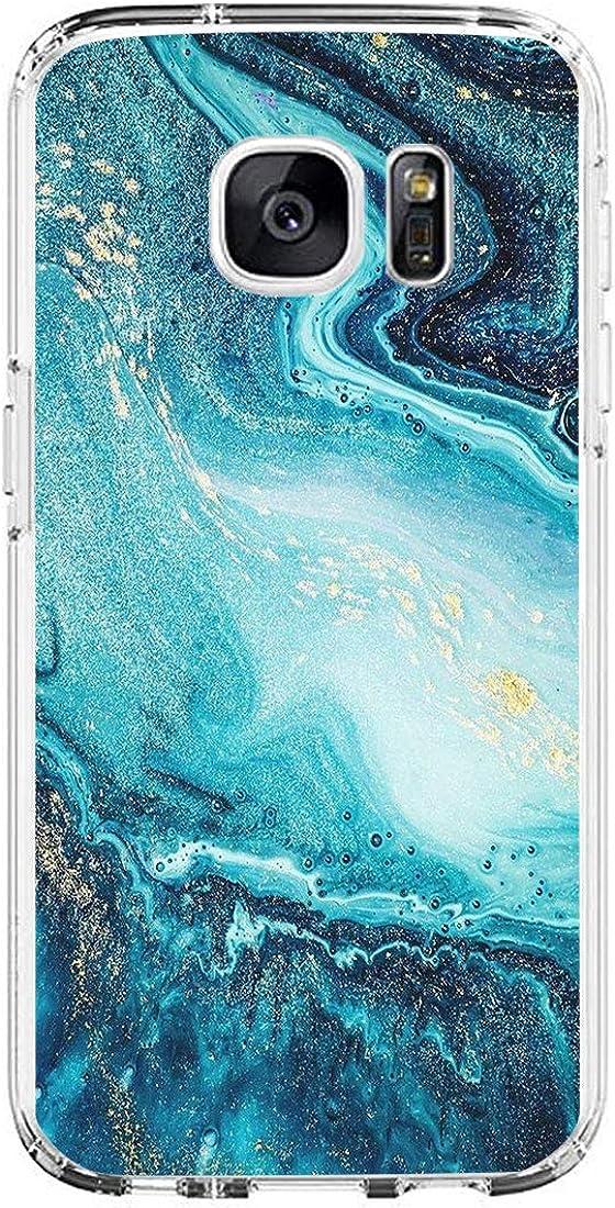 H/ülle f/ür Samsung Galaxy S6 H/ülle Ultrad/ünn Weich Silikon Handyh/ülle Durable Marmor Bumper Handytasche Anti-Gelb Schutzh/ülle D/ünn Flexible Soft Silica Gel case Cover 3