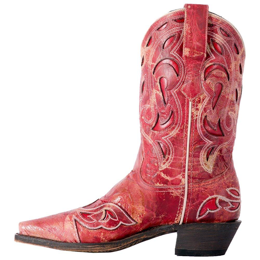 Laredo Women's No More Drama Underlay Cowgirl Boot Snip Toe - 3125 B079F7GJQD 8 B(M) US Red