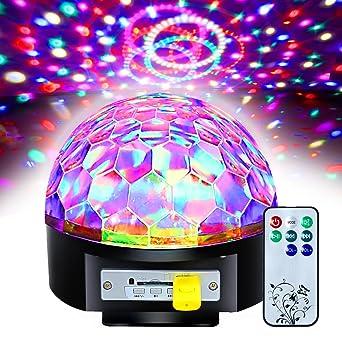 Mini Proiettore Effetto Luci Laser Per Disco Discoteca Dj.Besmall 20w Sfera Proiettore Luce Led Palla Girevole Rgb