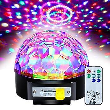3c2012ee941 Discoteca DJ Estadio Iluminación Digital RGB LED luz de efecto de bola de  cristal  Clase de eficiencia energética A