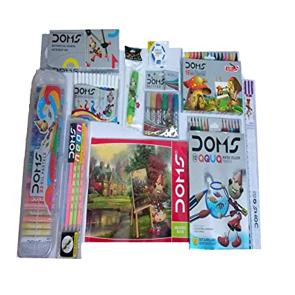 Water Colour Pen Min 12 Aqua Water Colour Pencil Groove Triangle Pencil Pack Doms Smart Kit 16 Wax Crayons 25 Oil Pastel Drawing Book