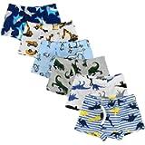 Closecret Soft Cotton Toddler Underwear Little Boys' Assorted Boxer Briefs(Pack of 6)