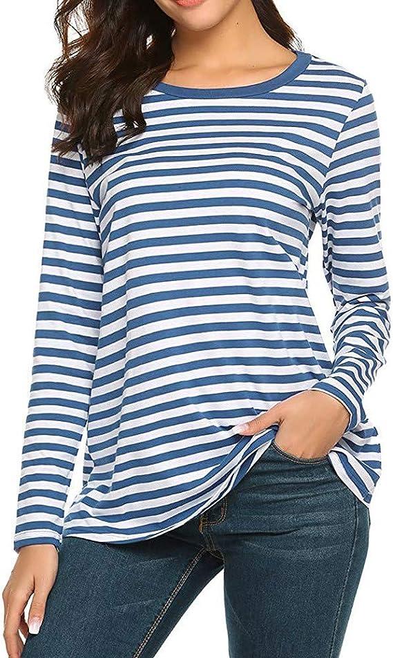 Trisee T-Shirt Femmes Basique Col Rond Chemises
