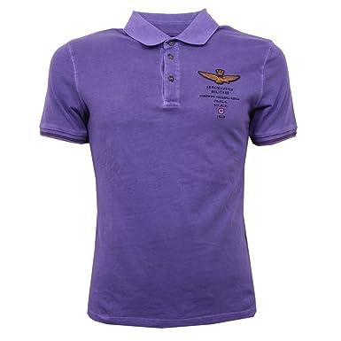 Aeronautica Militare - Polo - para hombre violeta XX-Large: Amazon ...