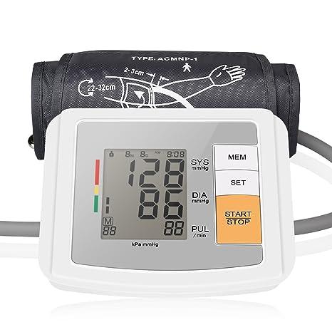 Spaire Tensiómetro de Brazo Digital y Electrónico con Lecturas Precisas de Presión Arterial, Monitor de