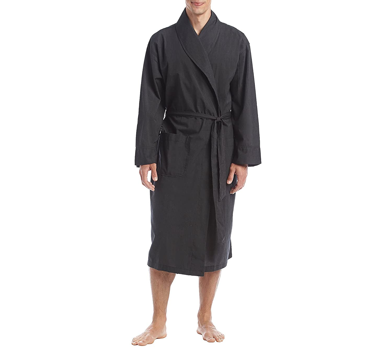 Hanes Men's Size Woven Shawl Collar Robe, Black, Extra Large Tall/2 Extra Large Tall 4204T