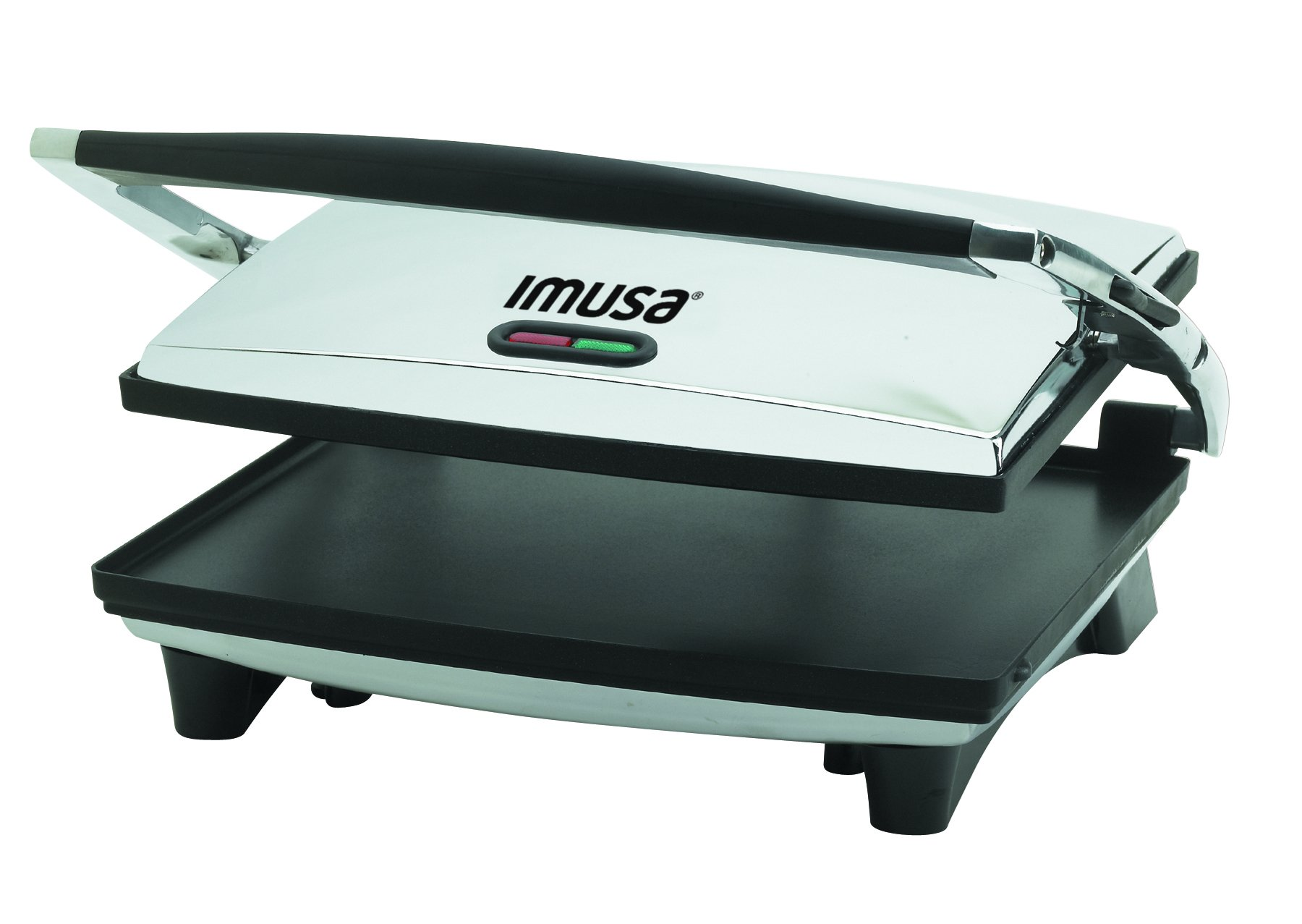 IMUSA USA GAU-80102 Large Electric Panini Press 1400-Watts, Silver by Imusa