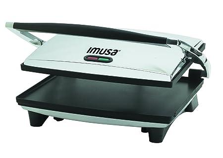 IMUSA USA GAU-80102 Large Electric Panini Press 1400-Watts, Silver