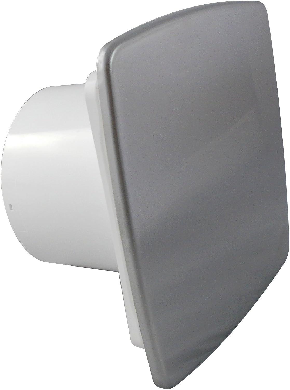 Extractor de baño con temporizador 100 mm/10,16 cm de ducha Kitchen NI-100T cromo pulido