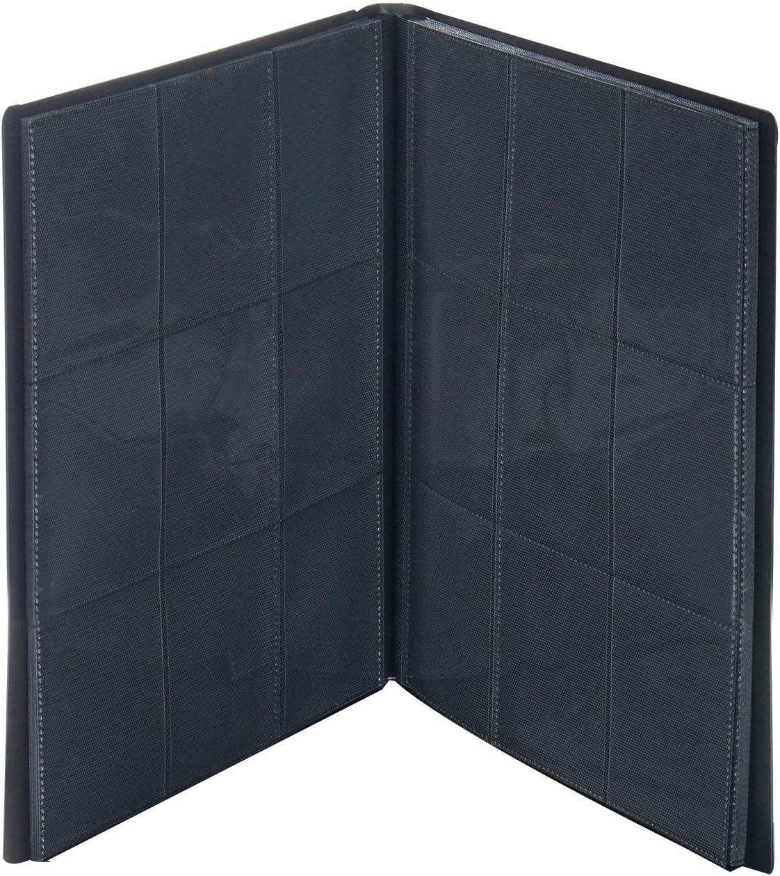 Yizhet Álbum de para Cartas coleccionista Negro para 360 Cartas, Álbum de 9 Bolsillos para Cartas Coleccionables, 360 Bolsillos de Inserción Lateral (Negro)