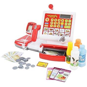 Infantastic - Caja registradora supermercado con escáner y Muchos Accesorios (Billetes, Monedas, Tarjeta de crédito): Amazon.es: Juguetes y juegos